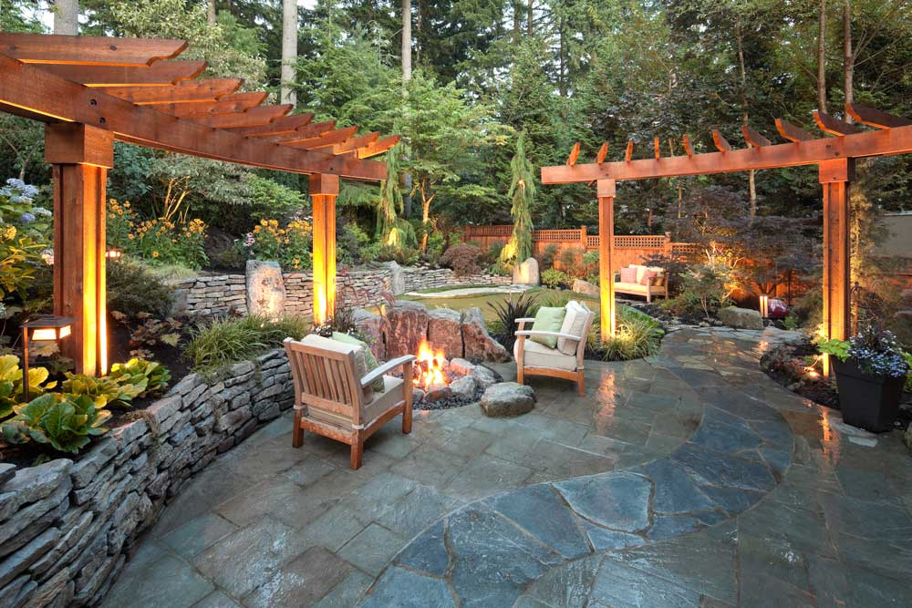 Benna lower garden landscape design vancouver pacifica for How to landscape backyard