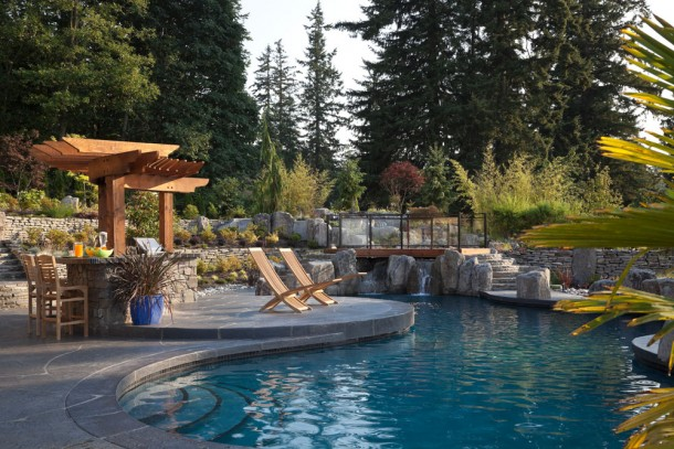 Resort landscape design vancouver pacifica landscape for Landscaping rocks vancouver wa