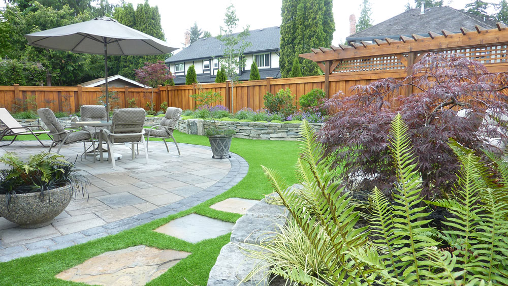 Tsawwassen landscape design pacifica landscape works for Landscaping rocks vancouver